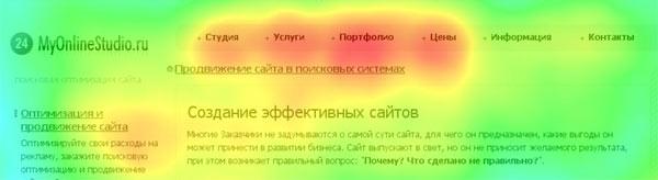 Карты активности сайта